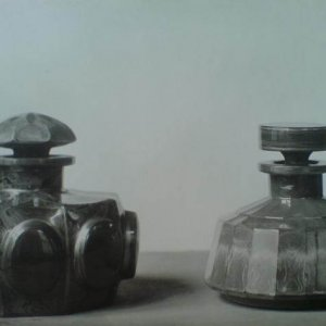 B. Egermann,BOR – Váza a číše lithyalinové