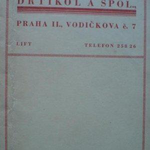 František Drtikol – původní originální pouzdro na fotografie