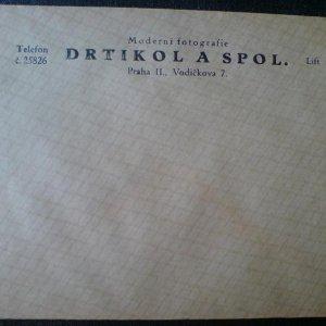 František Drtikol – původní originální firemní obálka