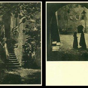 František Drtikol – soubor 10 pohlednic Dvory a dvorečky pražské