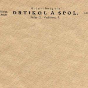 perfektní stav ,20.léta 20.století – firemní obálka fotoateliéru Františka Drtikola